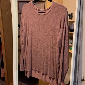 Over sized American eagle sweater pink Heathered